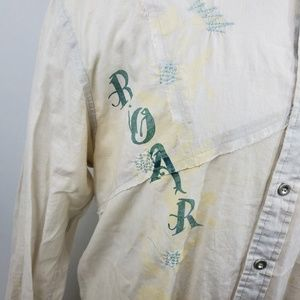 Roar Shirts - ROAR Men Button Front Shirt Sz 2XL L/S Beige Thin